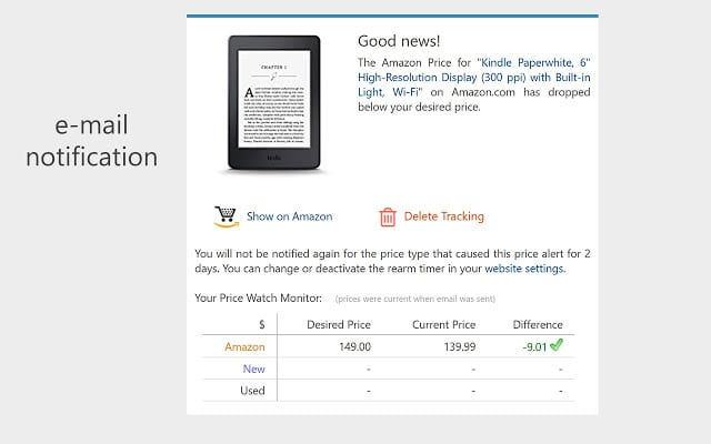 Amazon FOMO marketing email price change notification showing price reduction and savings.